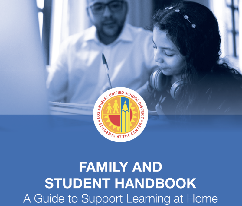 FAMILY AND STUDENT HANDBOOK A Guide to Support Learning at Home Featured Photo