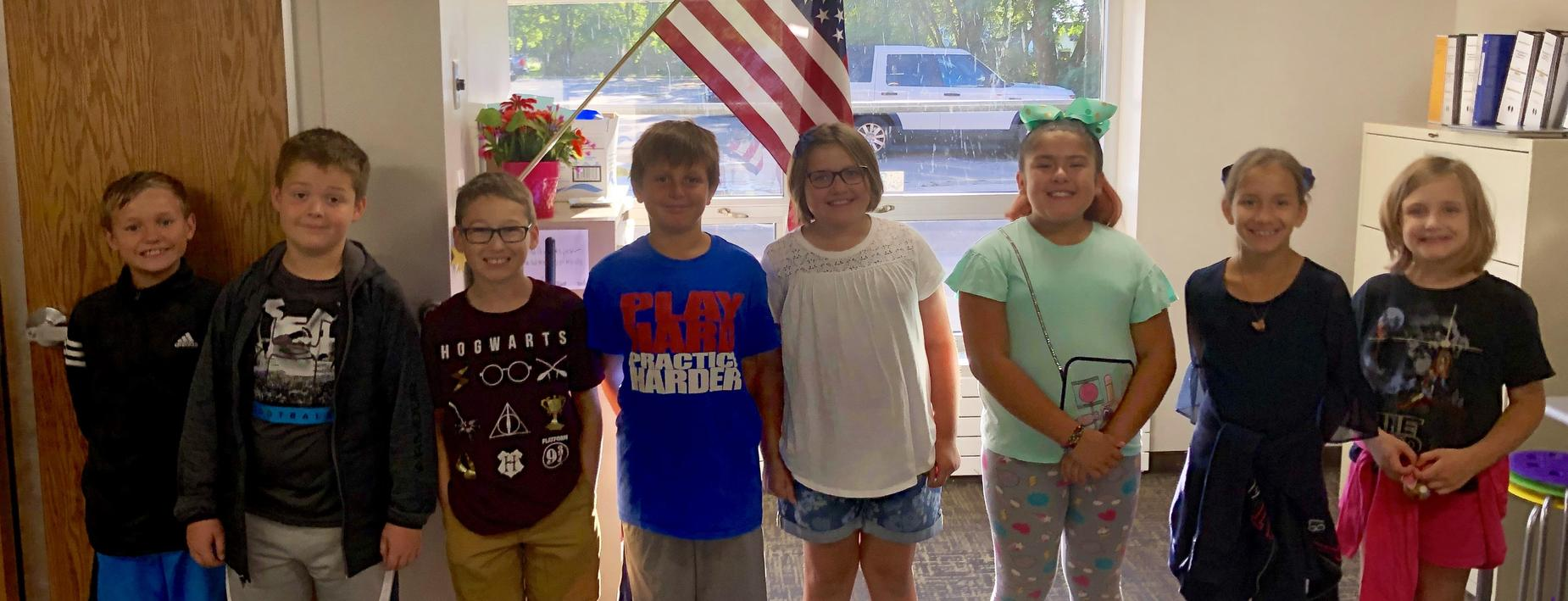CCIS honoring the flag