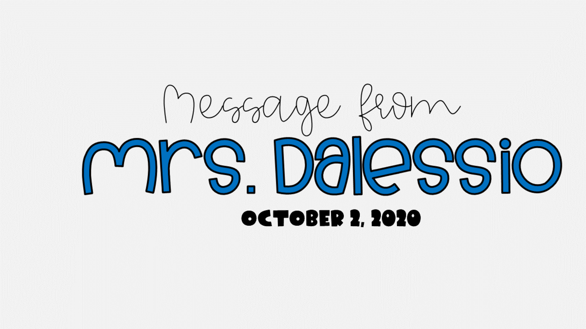 message from Mrs. Dalessio