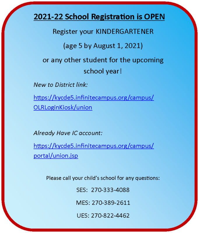 ONLINE REGISTRATION OPEN! Register KINDERGARTEN and all other students today! Thumbnail Image