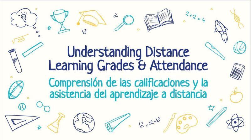 Understanding Distance Learning Grades & Attendance Parent Meeting Resources / Comprensión de los recursos de las reuniones de padres sobre la asistencia y las calificaciones del aprendizaje a distancia Featured Photo