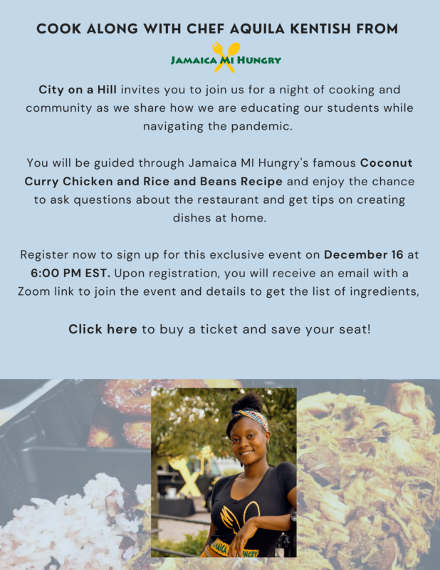 Flyer for CoaH Cooking Demonstration event with Jamaica Mi Crazy