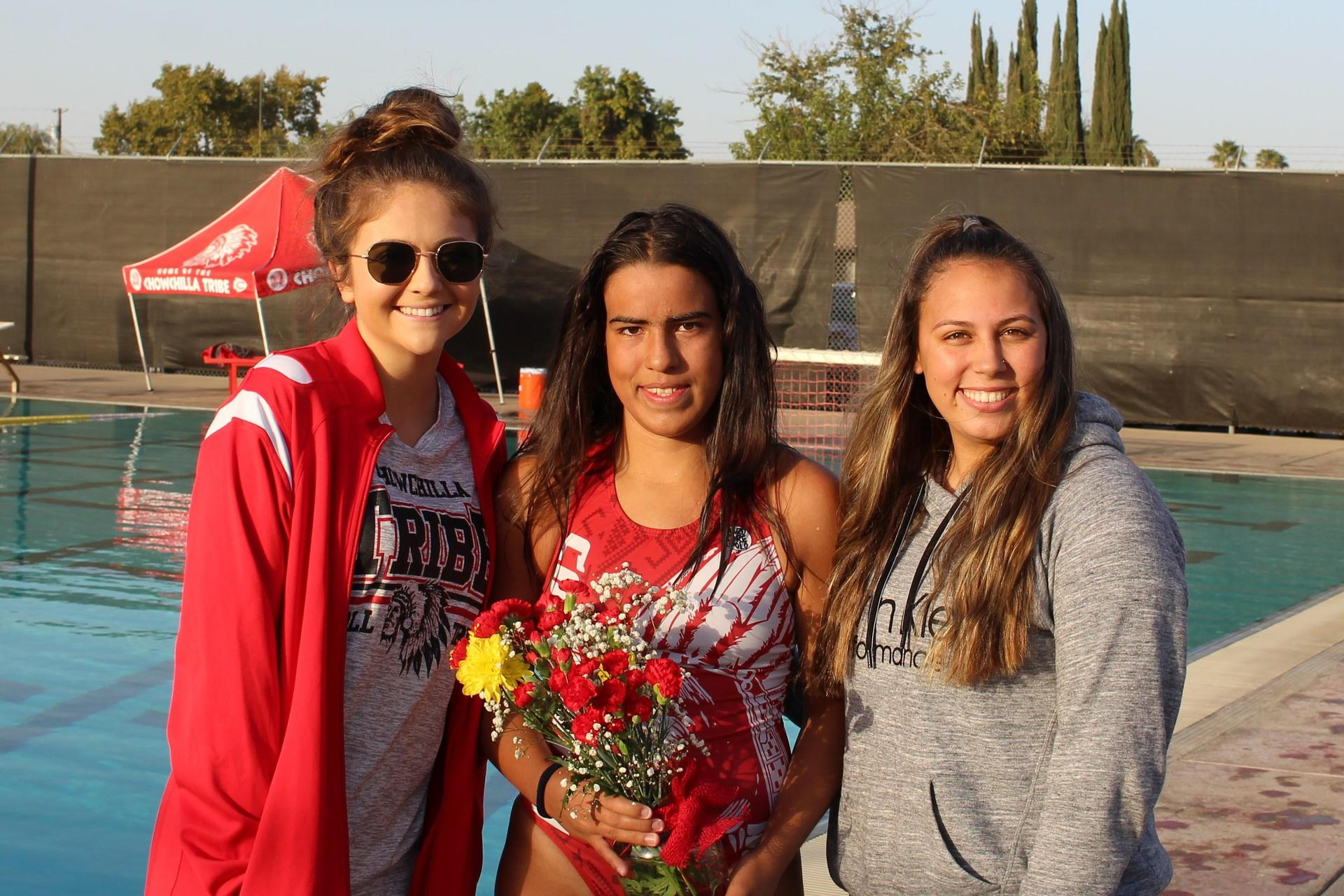 Jennifer Palomino, her coach and cousin.