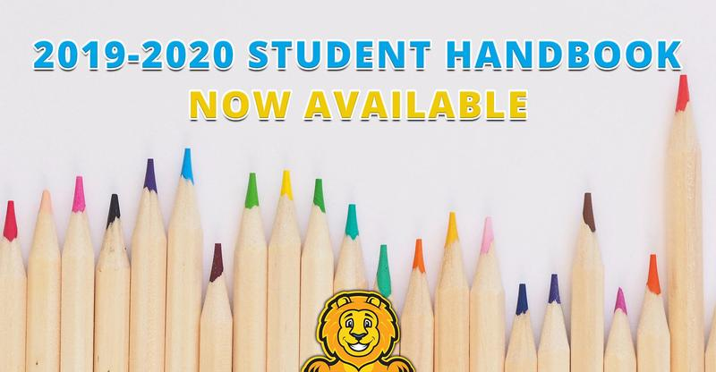 2019-2020 Student Handbook Now Available