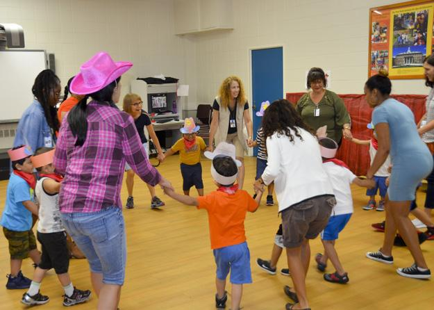 Square dancing during Wild West Day