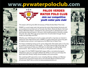 PV Water Polo Flyer
