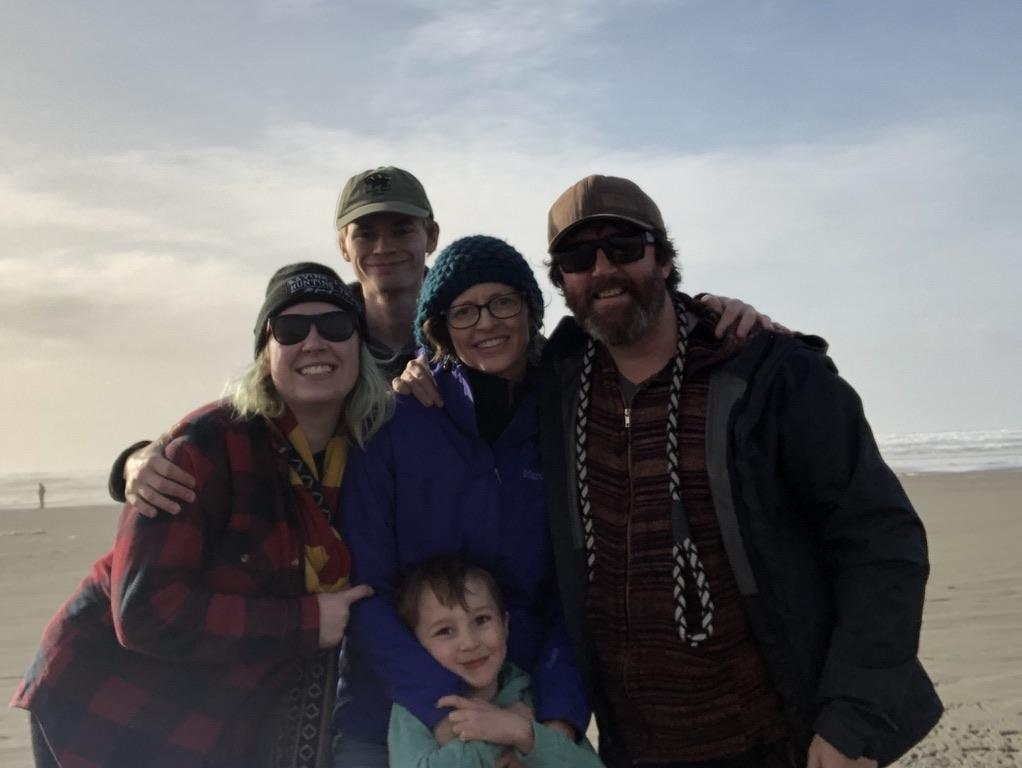 My family in Astoria, OR on the coast.