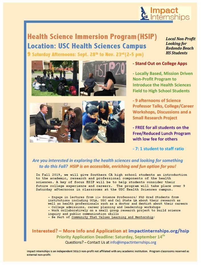 HSIP Fall 2019 Program Flyer