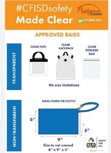 cyfair bag requirements