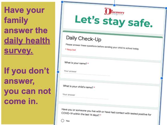 Daily Health Survey