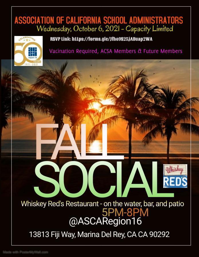 ACSA Region 16 Fall Social Image