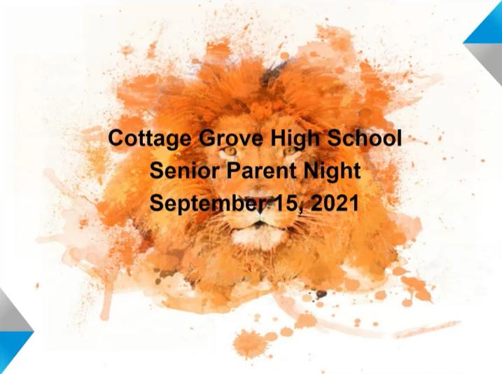 Senior Parent Night Video Featured Photo