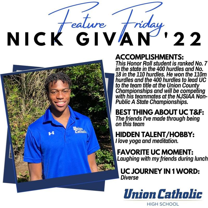 Union Catholic's Nick Givan Excelling On And Off The Track Thumbnail Image