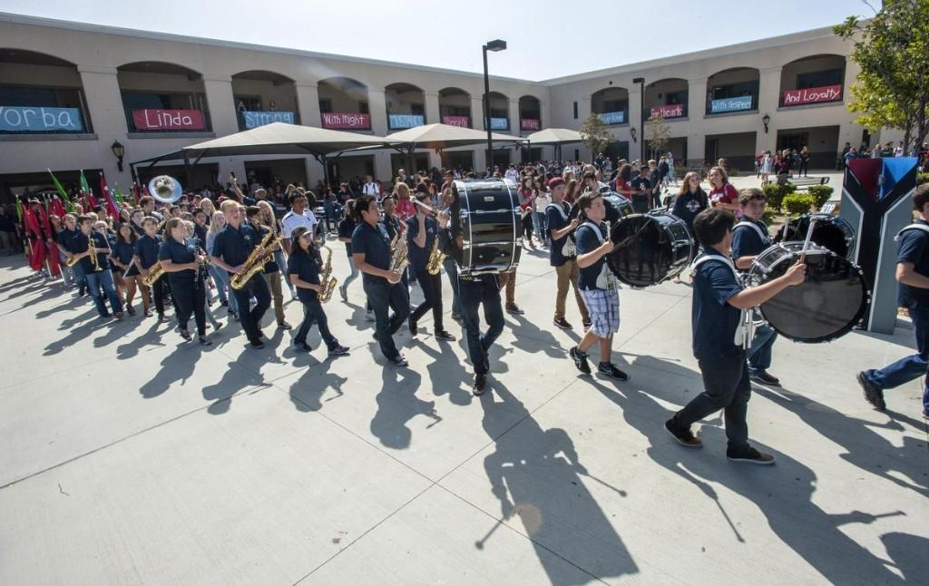 Band playing in the quad