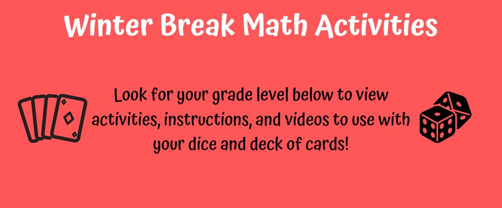 Winter Break Instructions- Click grade level below
