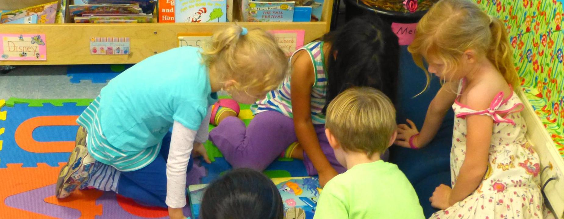 students in playroom