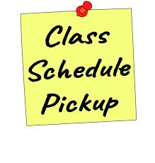 class schedule image/wording