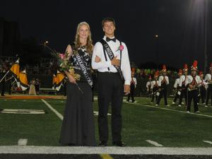 Senior representatives in the homecoming court.