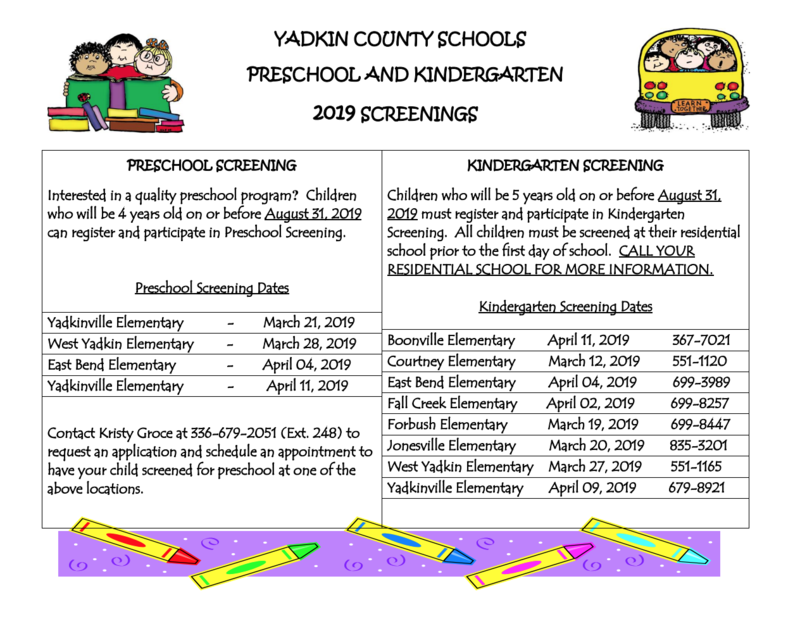2019 Pre-K and Kindergarten Screening Thumbnail Image
