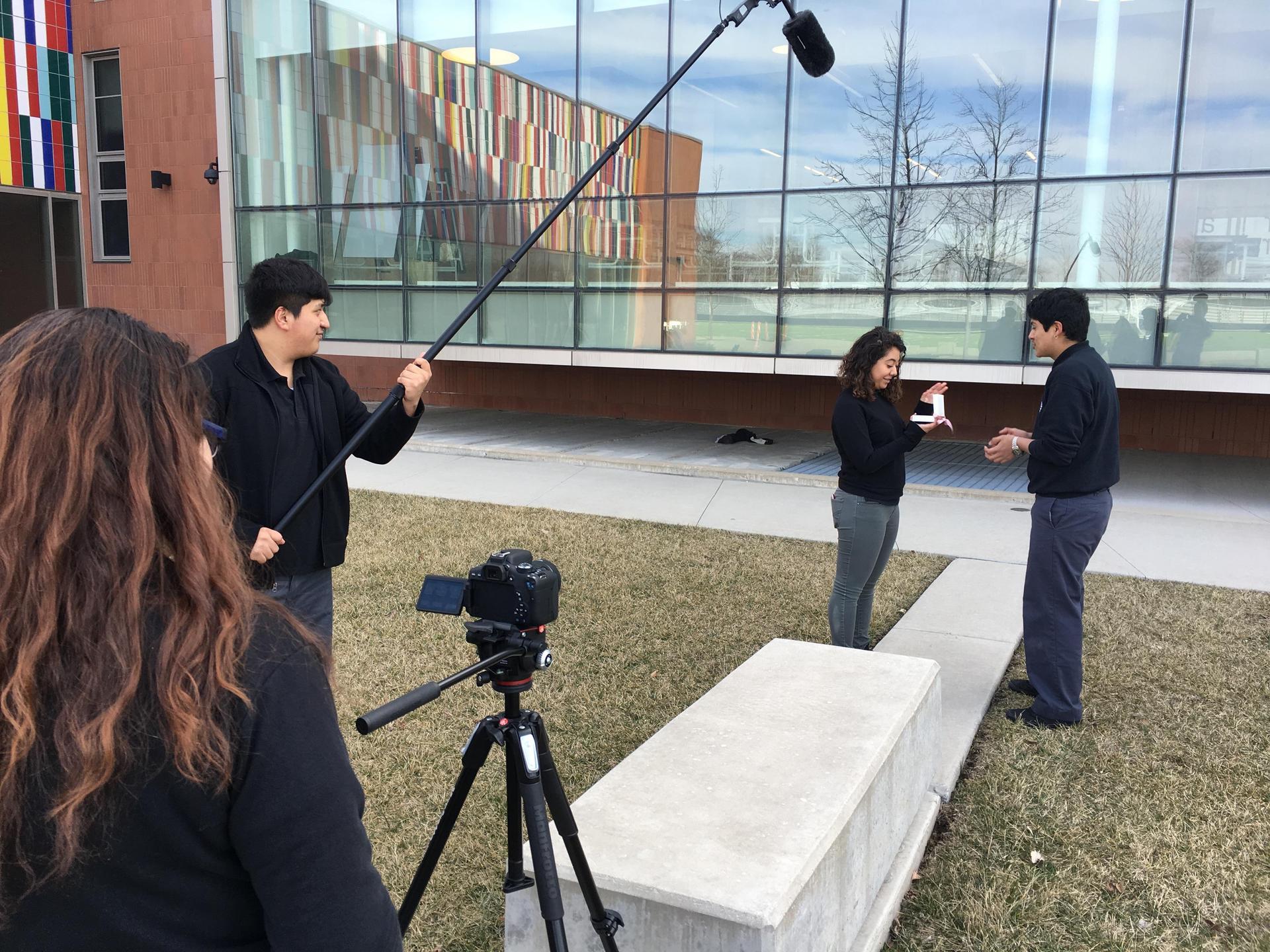 On Set on campus