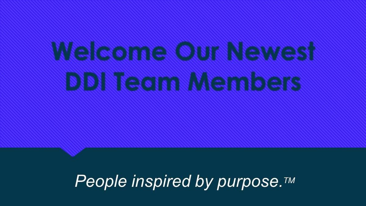 Welcome DDI's newest team members