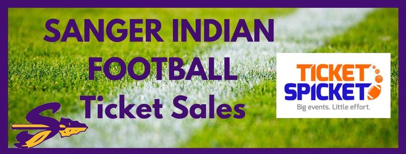 Sanger Indian Football Ticket Sales