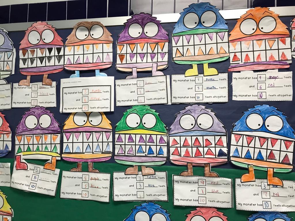 monster math activity display