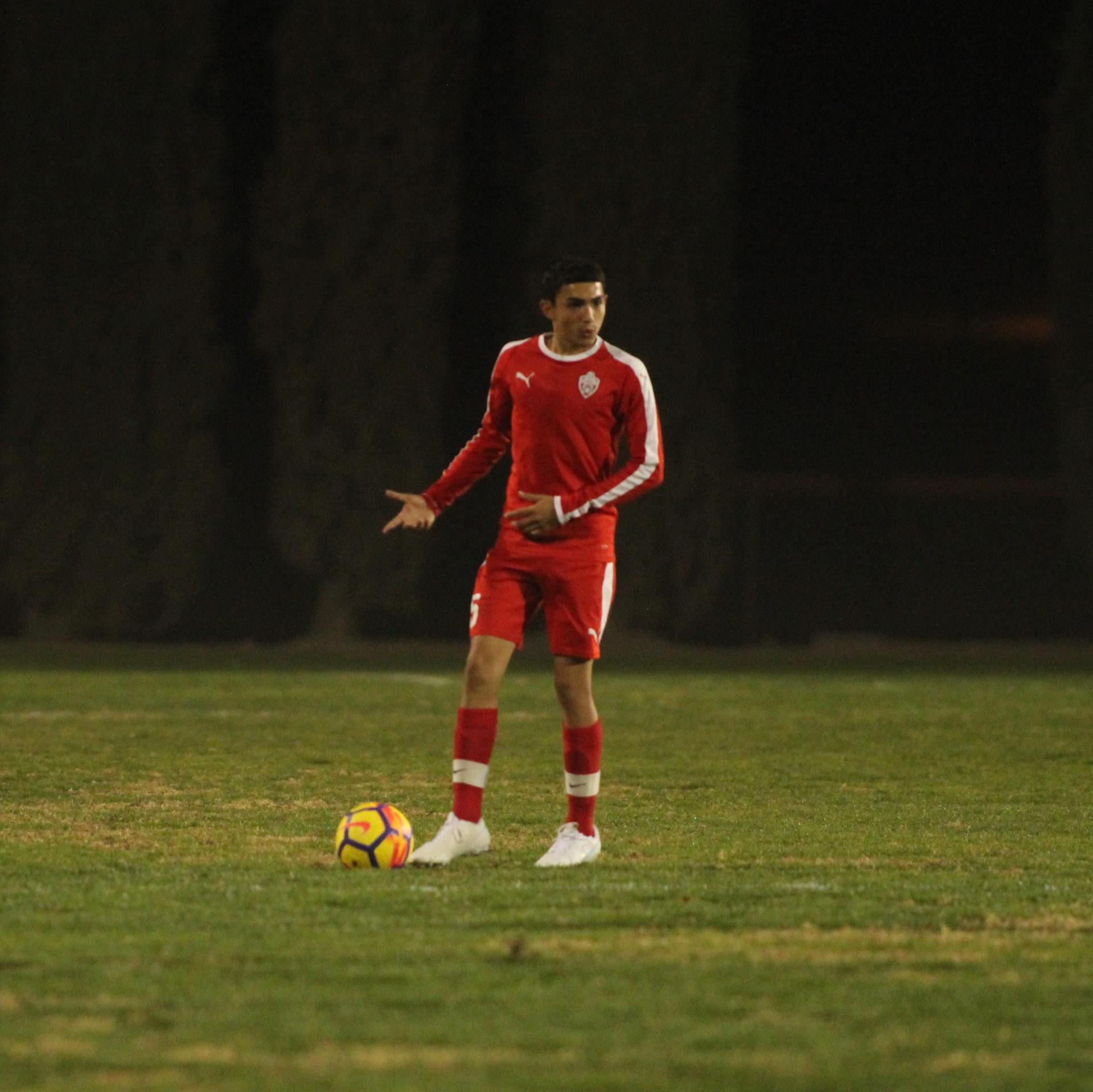 Edgar Campos with ball