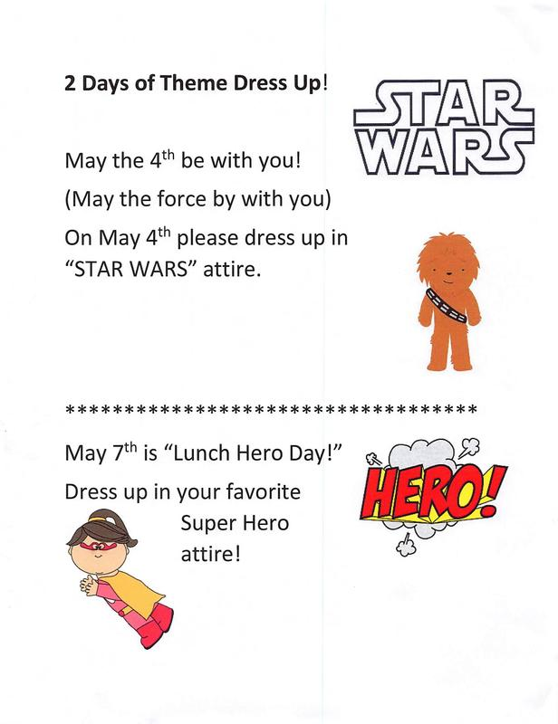 Theme dress up days in May!  (Click here) Featured Photo
