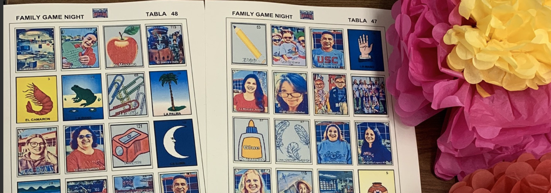 PTO hosted a fun LOTERIA night with customized Rivera Cards