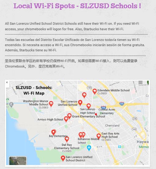 Wi- Fi hotspots -all languages