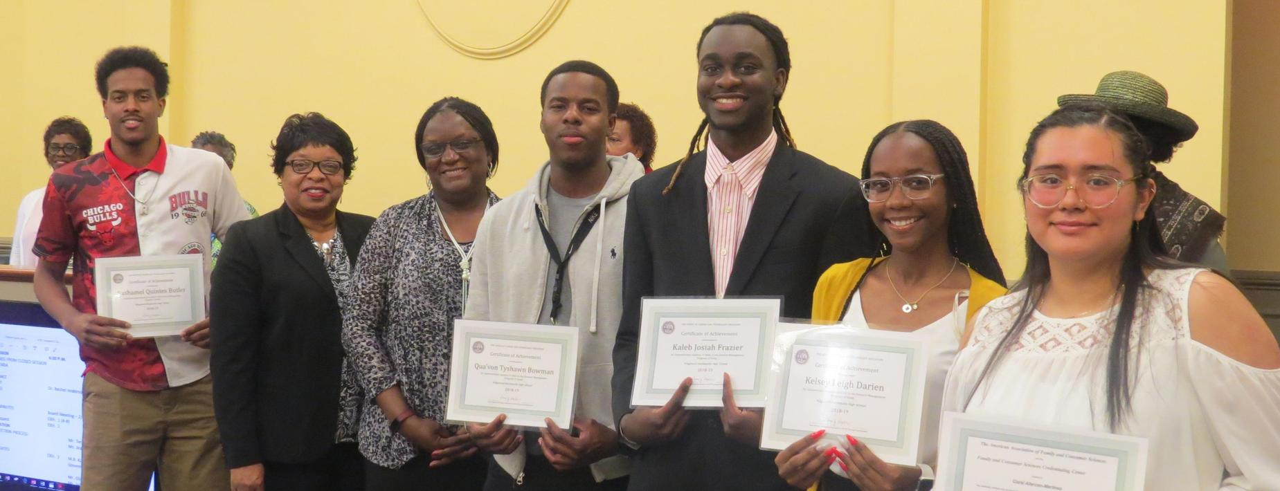 CATE Business and Family and Consumer Science Completers recognized at board meeting