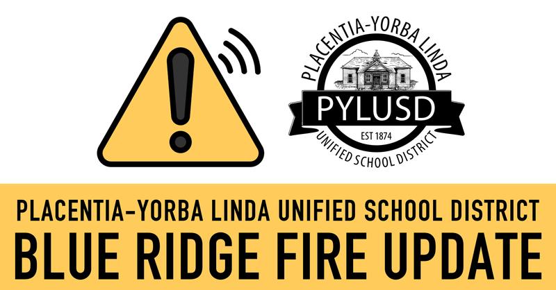 Blue Ridge Fire update graphic.