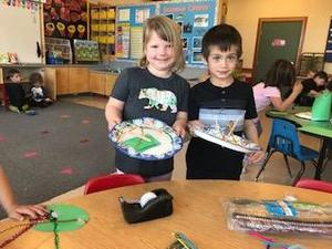 students with leprechaun traps