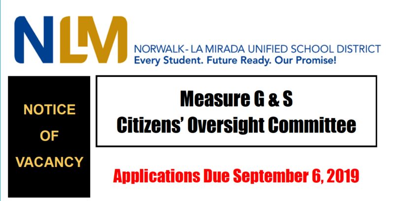Citizens Oversight Committee Notice of Vacancy Featured Photo