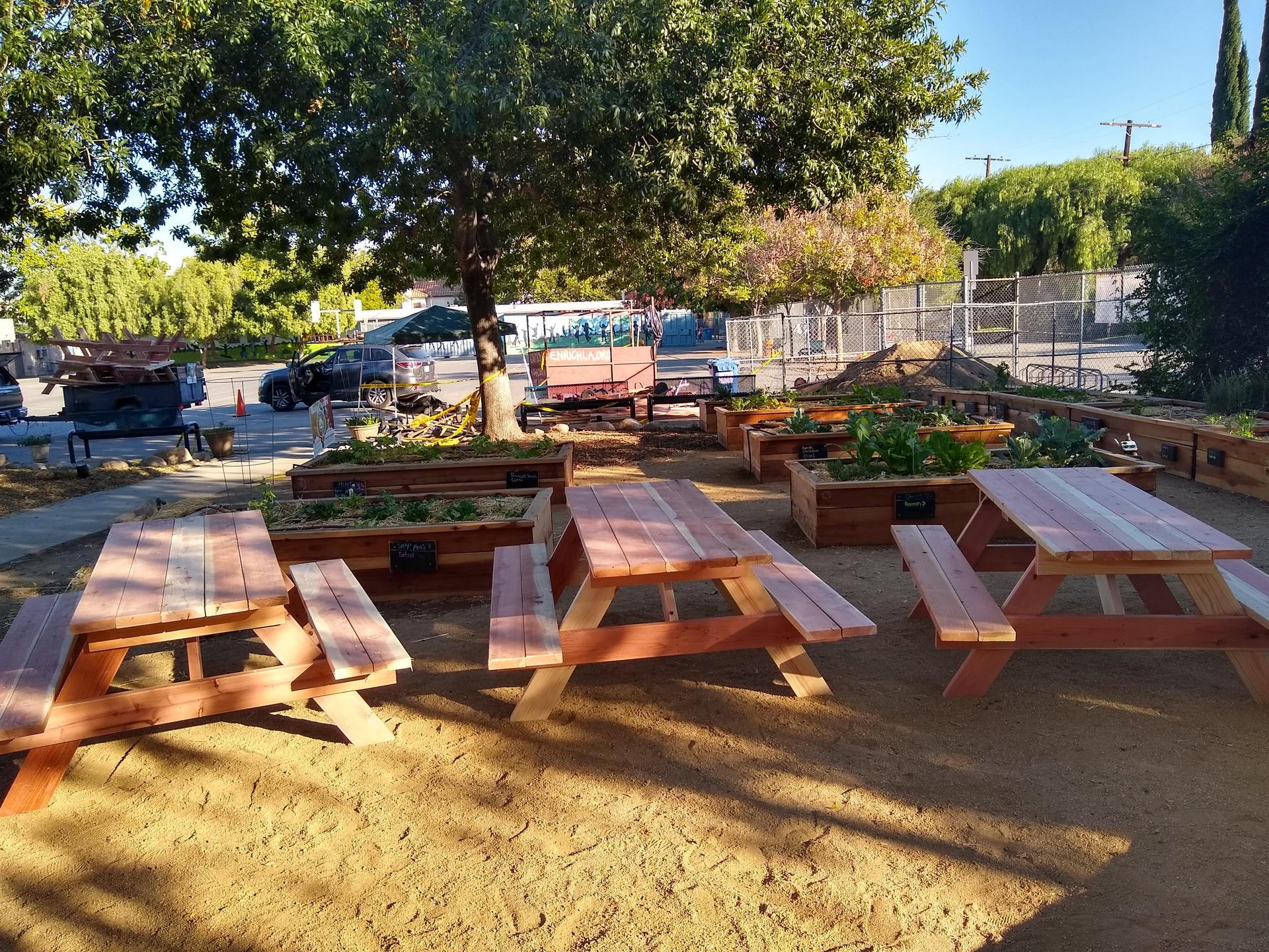 learning garden tables