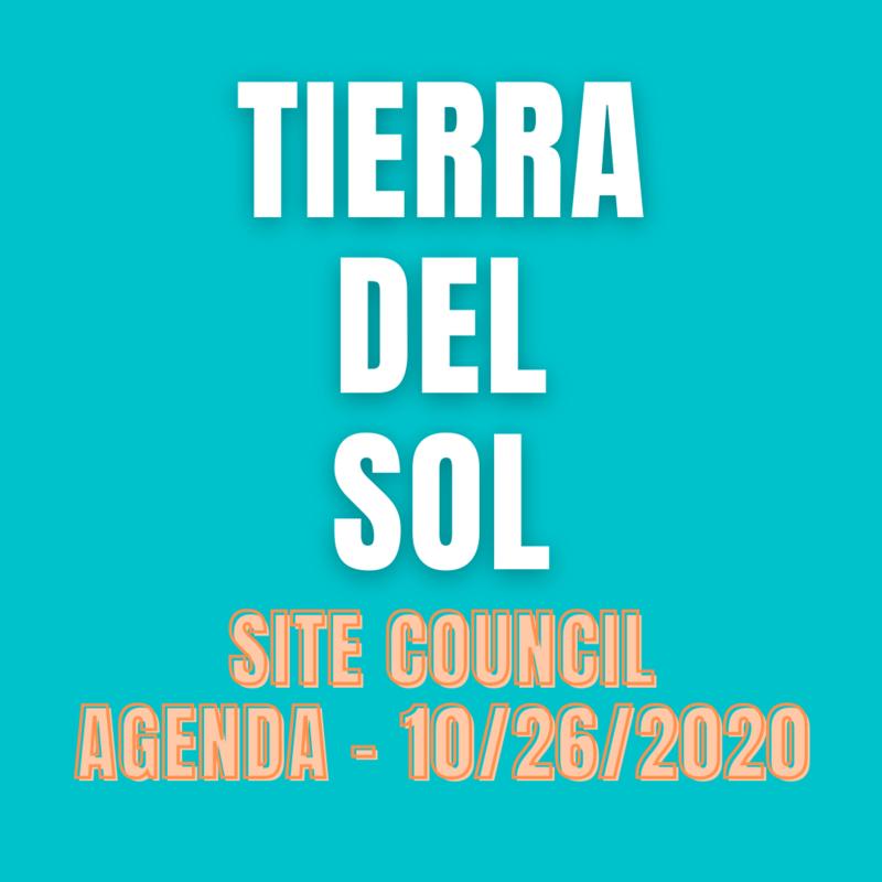 Site Council Agenda - 10/26/2020 Thumbnail Image