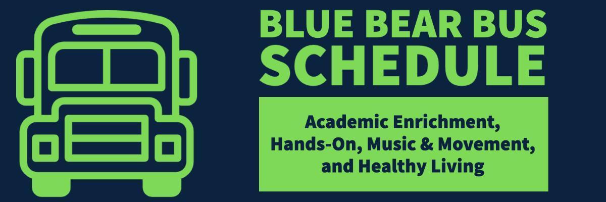 blue bear bus schedule
