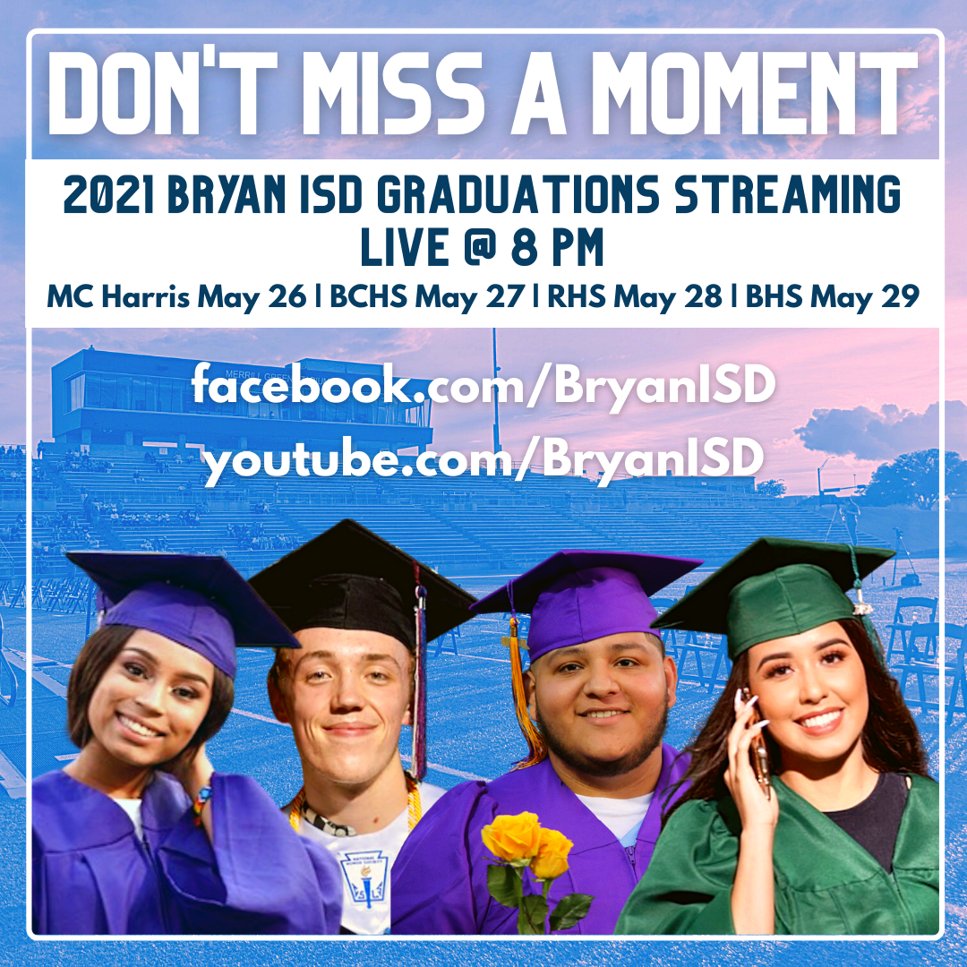 all graduations are streaming live at 8 pm