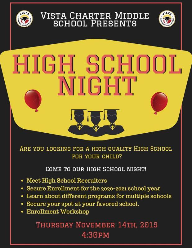 High School Night 2019 flyer