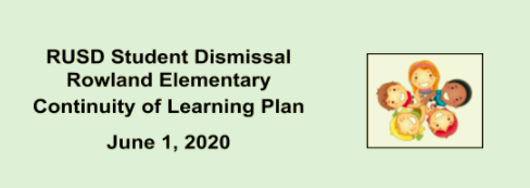 Student Learning Plans: June 1-4, 2020 (Covid 19 School Dismissal) Featured Photo