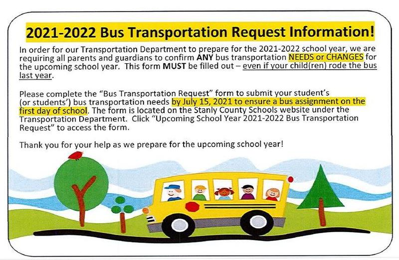 Bus transportation for the 2021-22 school year Featured Photo