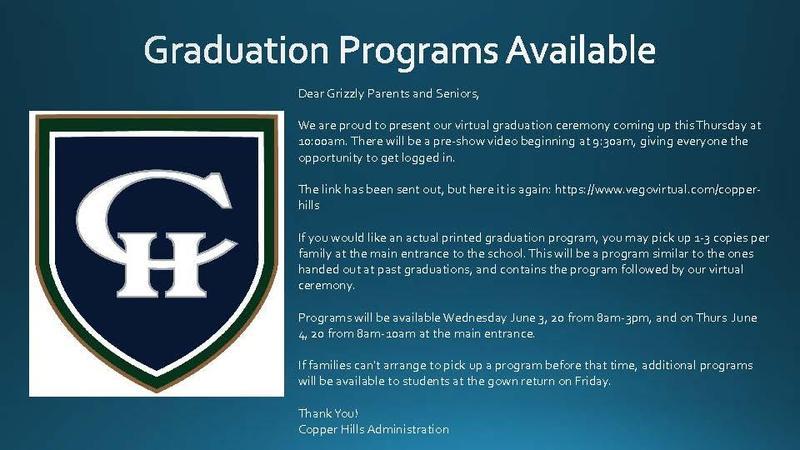 Graduation Programs Available!