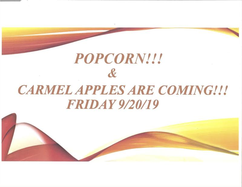 Caramel Apples and Popcorn on 9/20/19! Thumbnail Image
