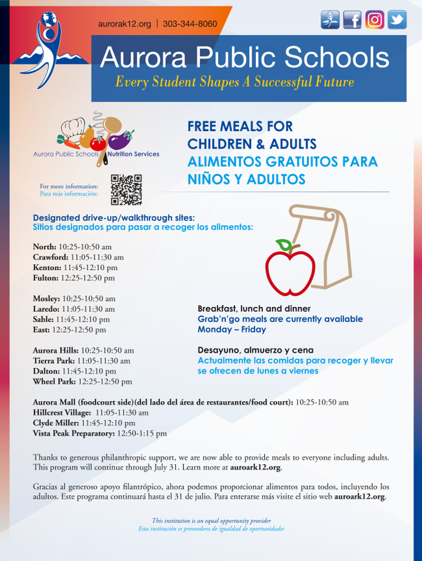 APS food program flyer