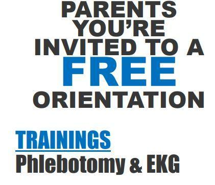 Come join us for a South Texas College Orientation,  regarding Phlebotomy and EKG adult continuing education courses! Featured Photo