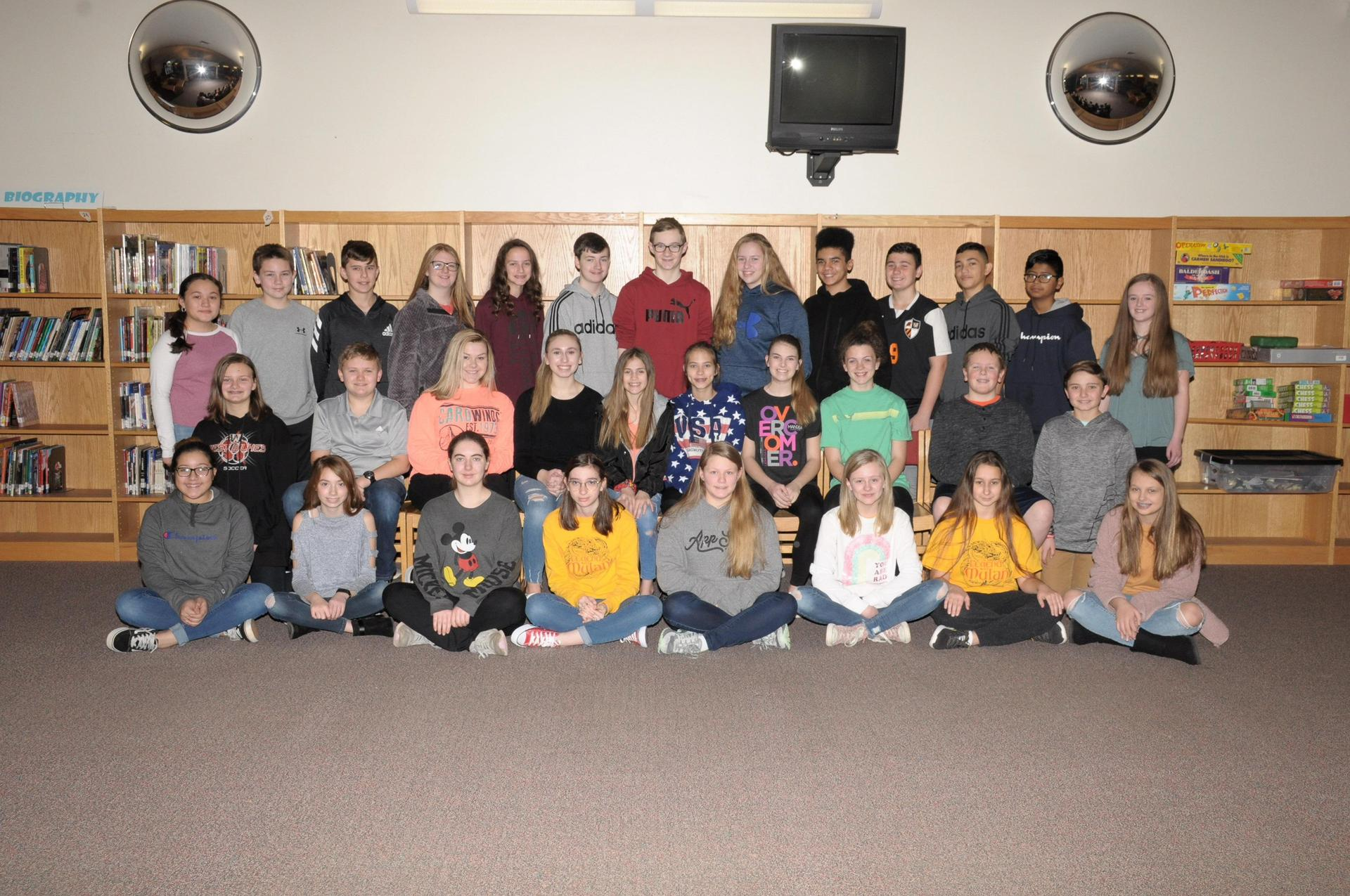 Image of 7th grade Beta Club