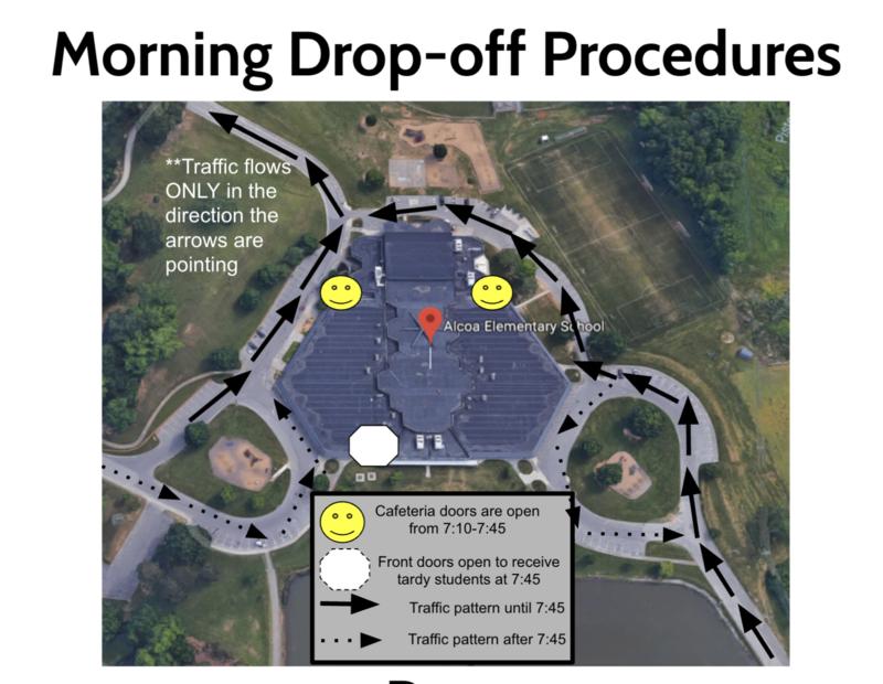 Morning Drop off Map