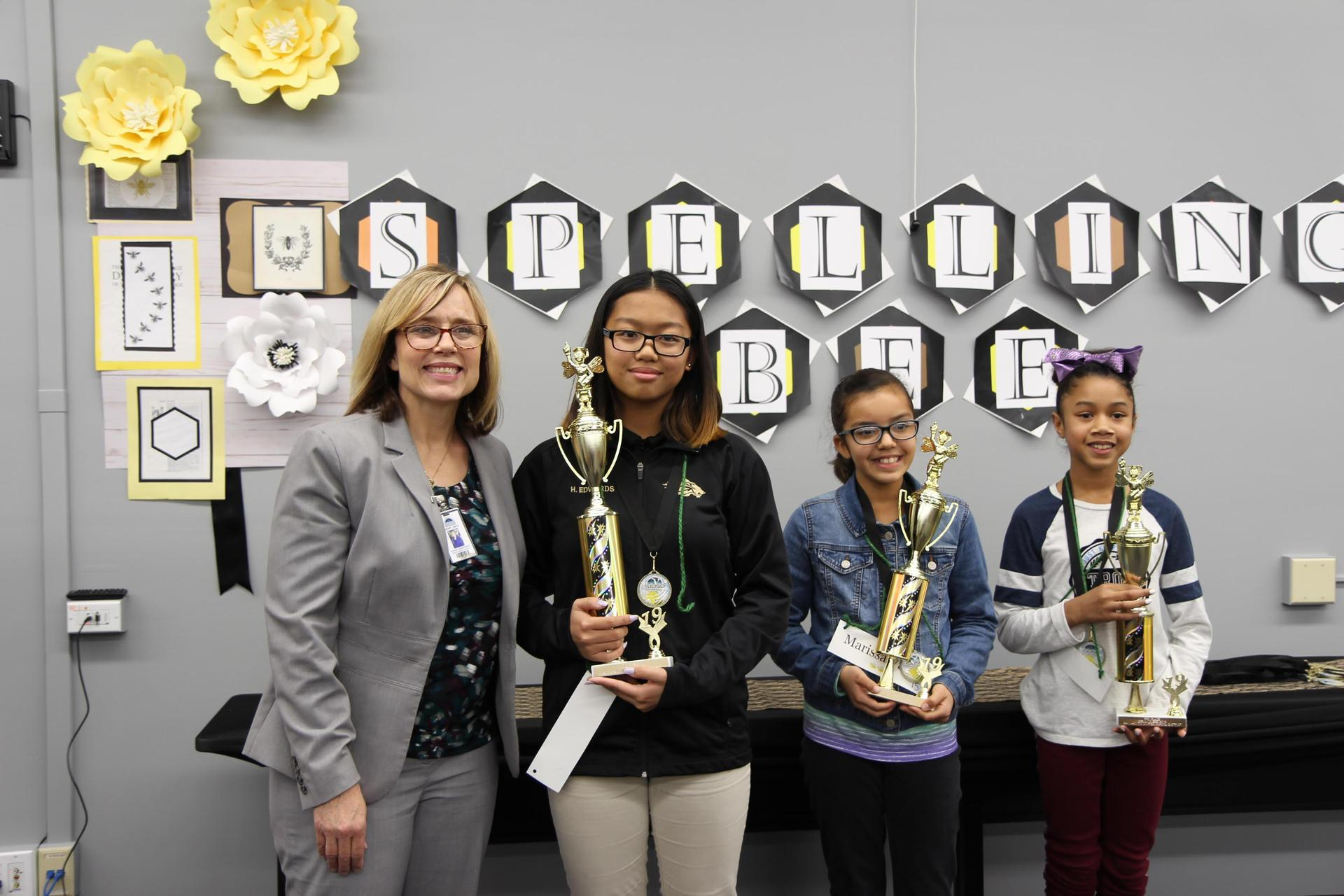 Assistant Superintendent Sherry Smith with our winners
