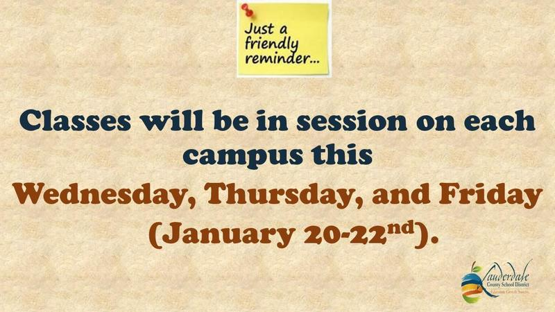 Class Schedule Reminder